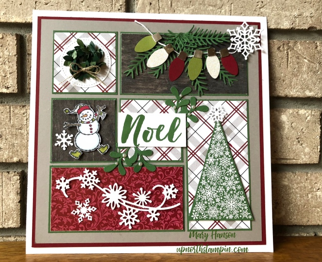 Christmas Sampler - Mary Hanson - Snow is Glistening - Spirited Snowmen - Up North Stampin'