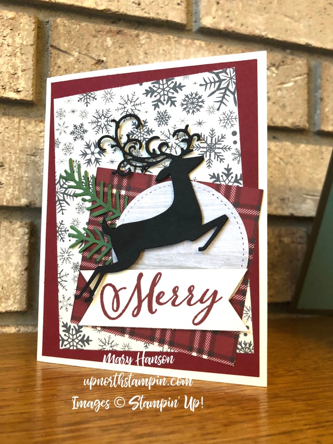 Dashing Deer Thinlits - Merry Christmas to All - Mary Hanson - Up North Stampin'