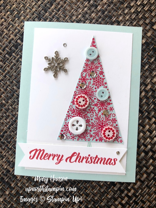 Nordic - Snow is Glistening - Snowflake Trinkets - Timeless Tidings - Mary Hanson - Up North Stampin'