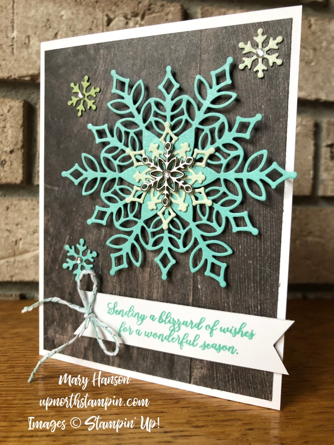 Snow is Glistening - Mary Hanson - Snowflake Showcase Bundle - Up North Stampin' - Stampin' Up!