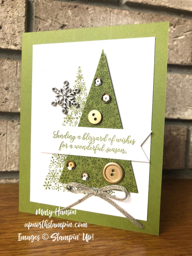 Snow is Glistening - Old Olive - Mary Hanson - Up North Stampin'