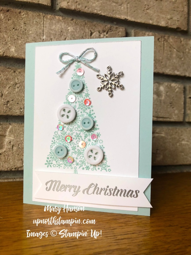 Snow is Glistening - Pastels - pool party - Mary Hanson - Up North Stampin'