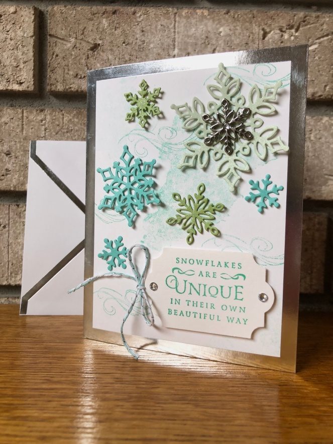 Snowflake Showcase Bundle - Beautiful Blizzard - Silver Foil-Lined Cards and Envelopes - Mary Hanson - Up North Stampin' - Stampin' Up!