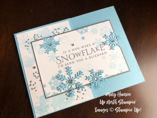 Beautiful Blizzard 2 - Balmy Blue - Up North Stampin' - Mary Hanson