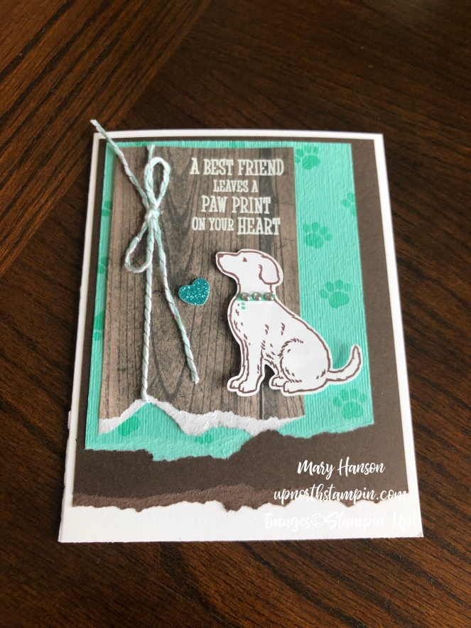 happy tails - 2 - up north stampin - stampin' up! - mary hanson