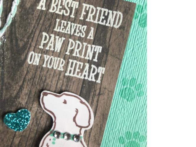 happy tails - white embossing powder - mary hanson - up north stampin'