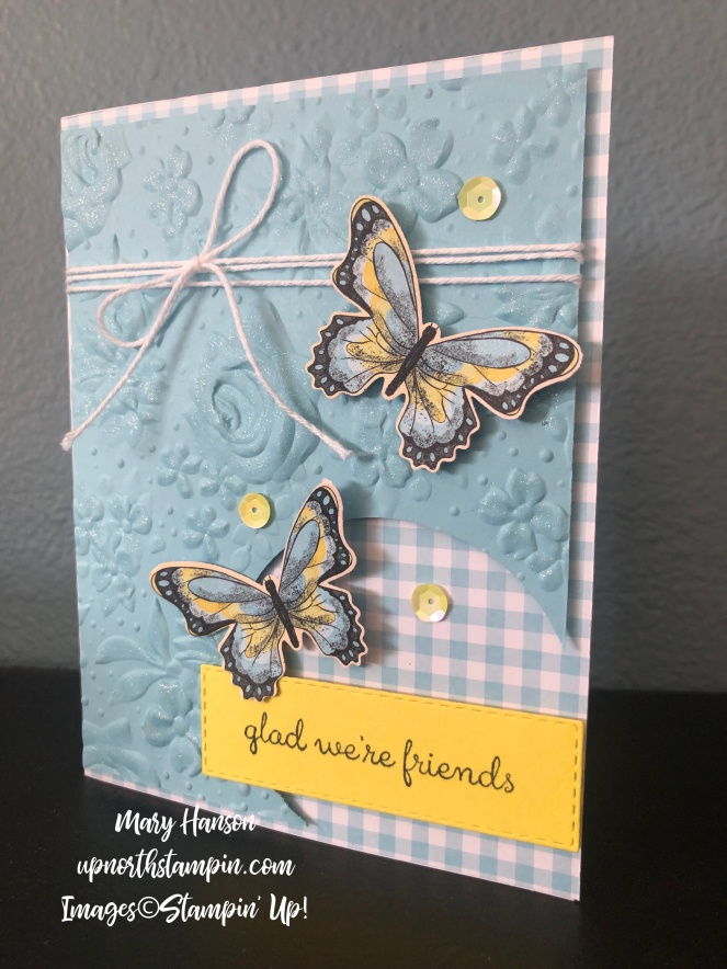 Balmy Blue - Country Floral Embossing Folder - Mary Hanson - Up North Stampin'
