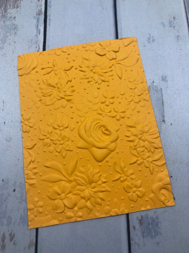 Country Floral Embossing folder plain