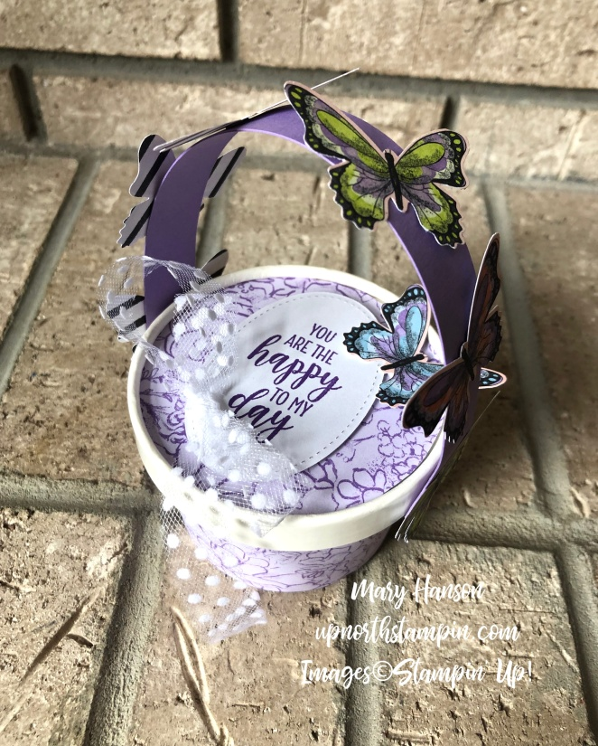 May Baskets 1 - Country Home- Botanical Butterfly Designer Series Papers - Mary Hanson - Up North Stampin' - Stampin' Up!