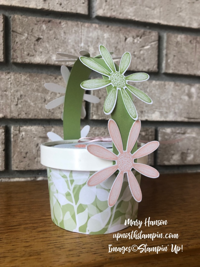 May Day Baskets 2 - Daisy Lane - Floral Romance Designer Series Papers - Up North Stampin' - Mary Hanson
