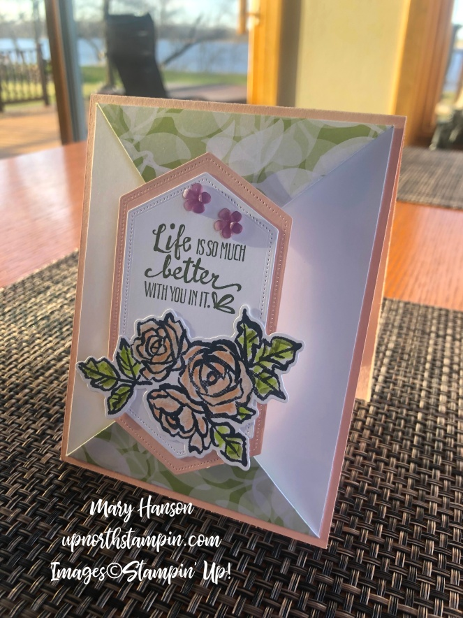 Petal Palette Bundle - Fancy Fold - Table - Stitched Nested Labels Dies - Frosted Flower Embellishments - Mary Hanson - Up North Stampin'