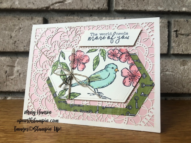Bird Ballad Suite - Blushing Bride - Bird Ballad Laser-Cut Cards & Tin - Bird Ballad Designer Series Paper - Mary Hanson - Up North Stampin'