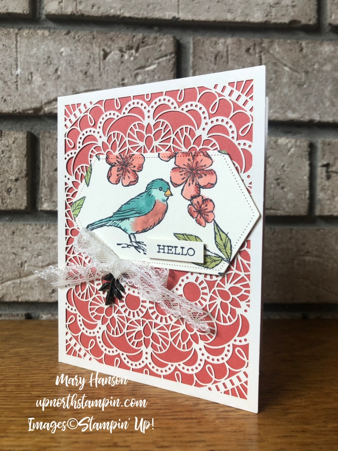 Bird Ballad Suite - Terra Cotta Tile - Stitched Nested Labels Dies - Bird Ballad Laser-Cut Cards & Tin - Mary Hanson - Up North Stampin'