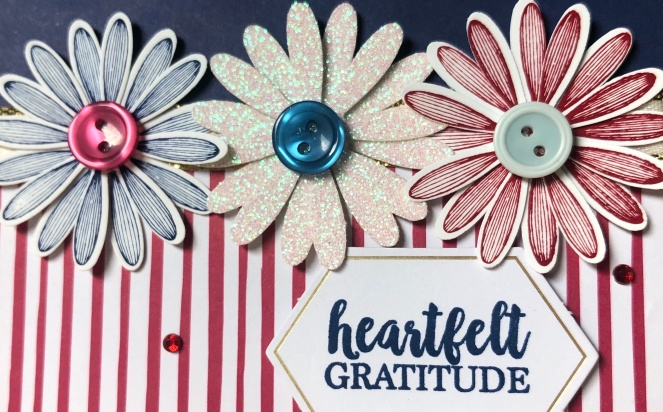 Close Up Medium Daisy Punch - A Big Thank you - In Color 2018-20 Designer Series Paper - Mary Hanson - Up North Stampin' copy