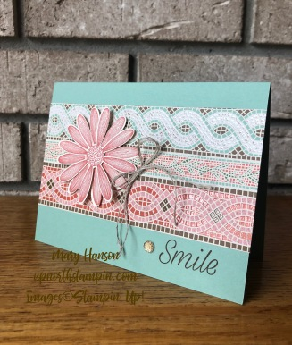 Daisy Lane 1 - Mosaic Mood Specialty Designer Paper - Mary Hanson - Up North Stampin - Stampin' Up!