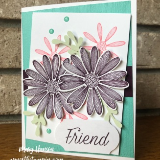 Daisy Lane 4 - Coastal Cabana - Blackberry Bliss - Daisy Punch - Up North Stampin' - Mary Hanson - Stampin' Up!