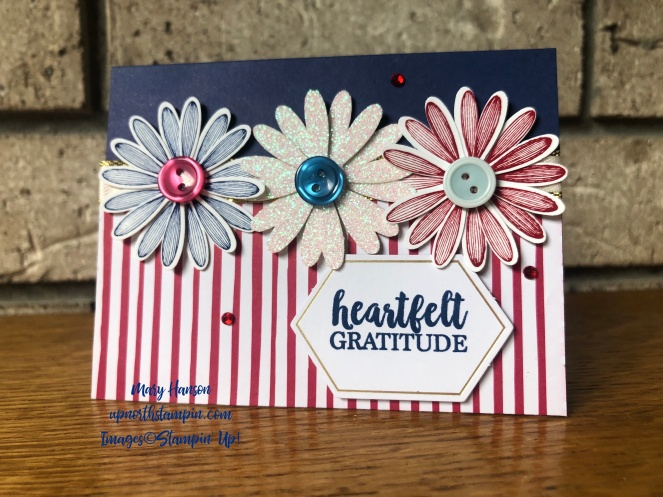 Medium Daisy Punch - A Big Thank you - In Color 2018-20 Designer Series Paper - Mary Hanson - Up North Stampin'