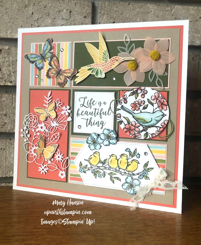 Summer Sampler 2019 Real - Mary Hanson - Bird Ballad - Mosaic Mood - Colorful Seasons - Up North Stampin' - Stampin' Up!
