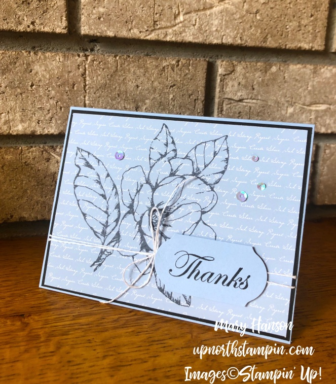 Magnolia - Daisy Lane - 2019-21 In Colors Designer Series Paper - Seaside Spray - Timeless Label Punch - Mary Hanson - Up North Stampin'