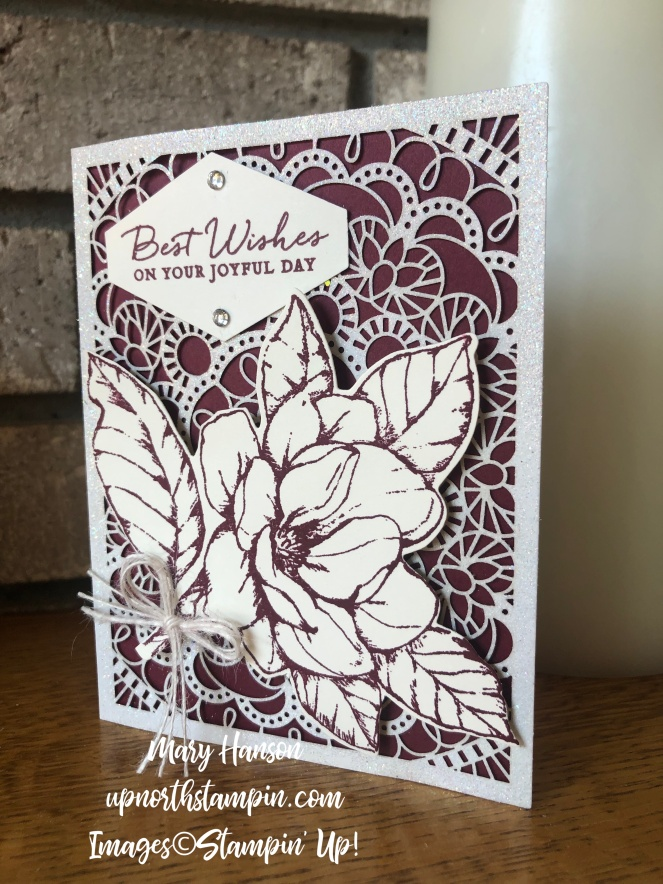 Good morning Magnolia Bundle - Candle - Bird Ballad Laser-Cut Cards & Tin - Merry Merlot - Tailored Tag Punch - Path of Petals - Stamp Set - Mary Hanson - Up North Stampin'