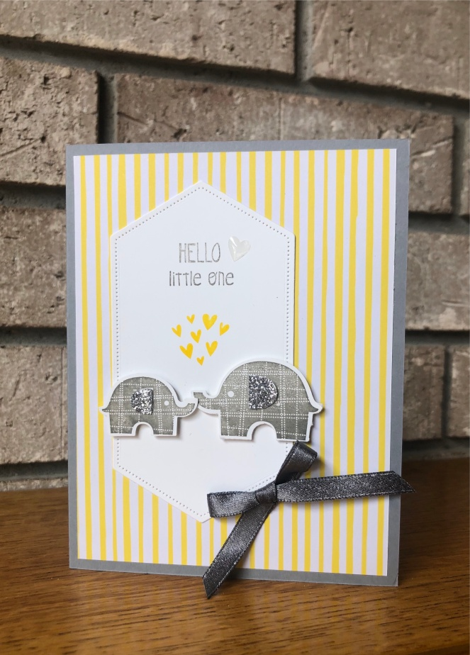 Little Elephant 2 - 2018-20 In Color Designer Series Paper - Silver Glimmer Paper - Mary Hanson - Up North Stampin'