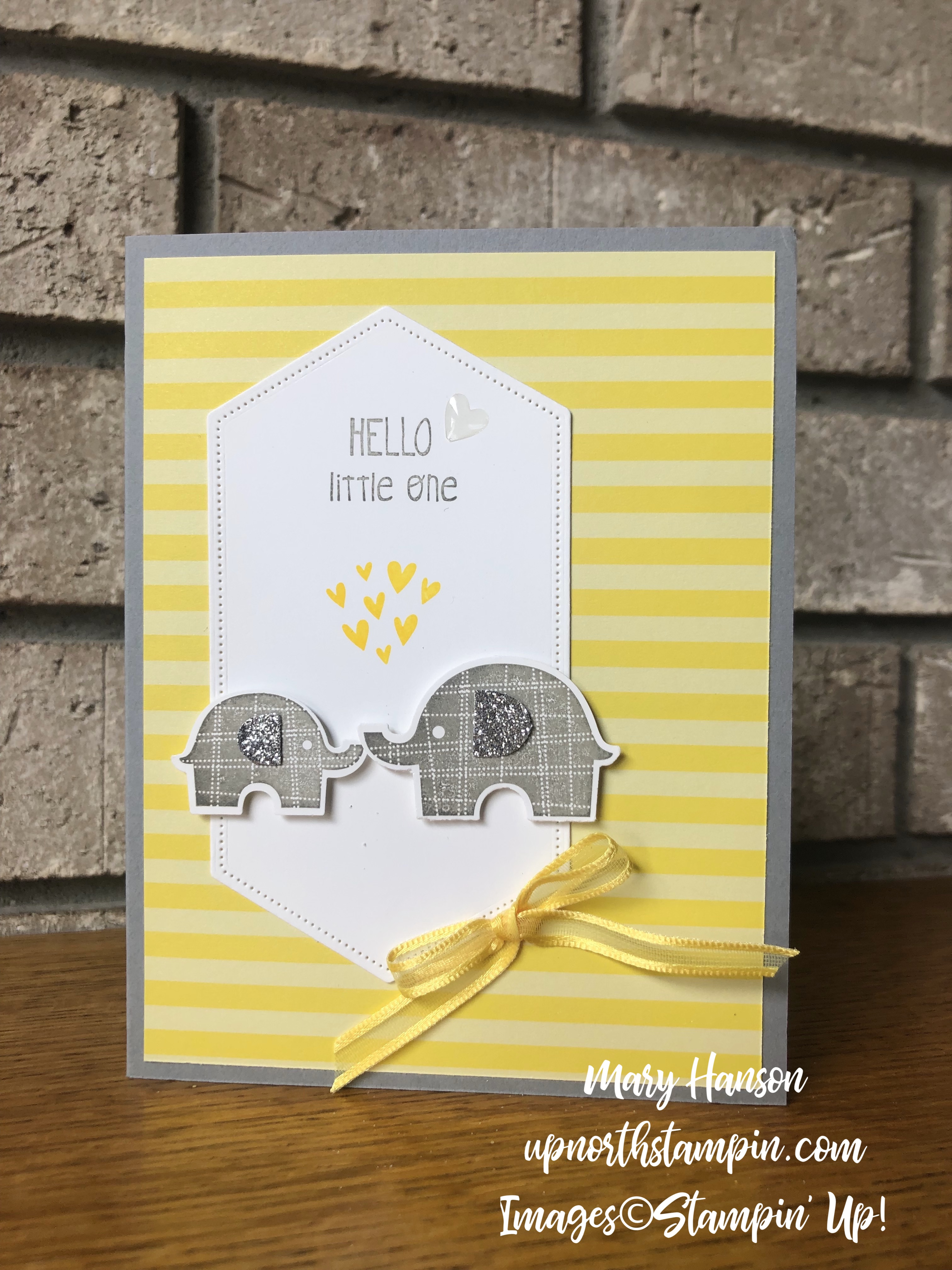 Little Elephant - 2018-20 In Color Designer Series Paper - Silver Glimmer Paper - Mary Hanson - Up North Stampin'