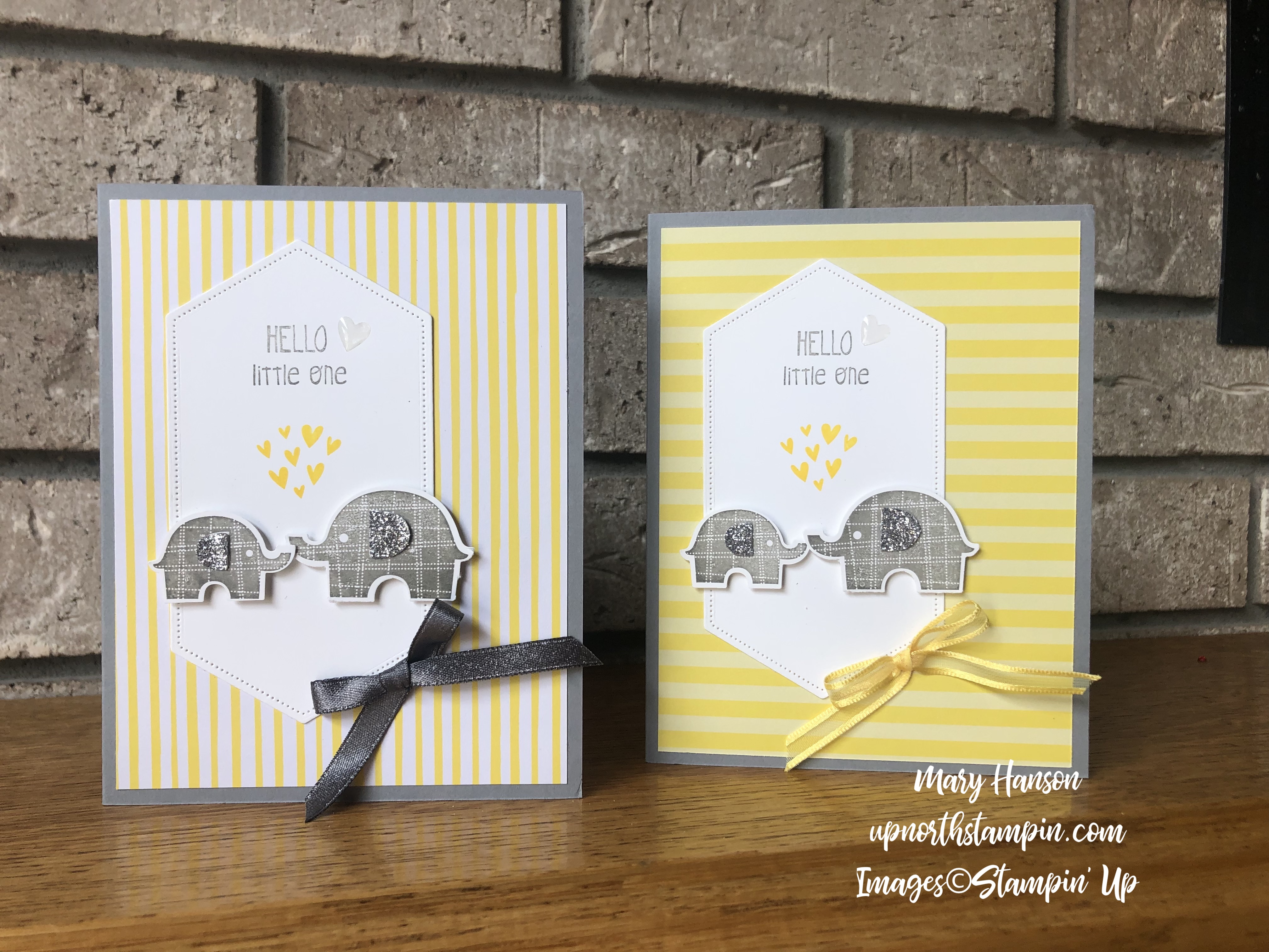 Little Elephant - Duo - 2018-20 In Color Designer Series Paper - Silver Glimmer Paper - Mary Hanson - Up North Stampin'