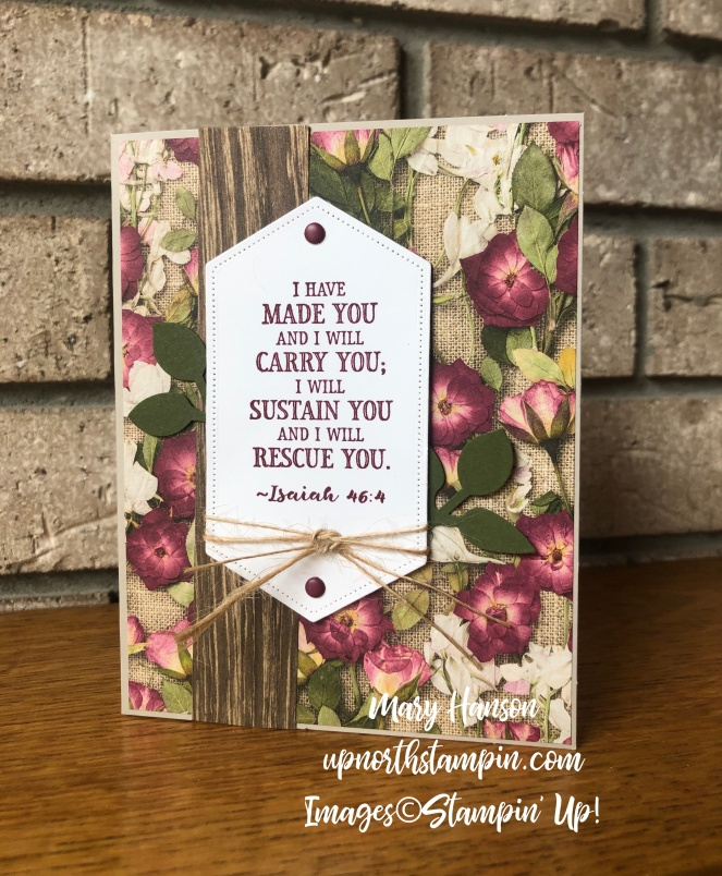 Pressed Petals Specialty Designer Paper - Hold On To Hope - Stitched Nested Framelits Dies - Mary Hanson - Up North Stampin'
