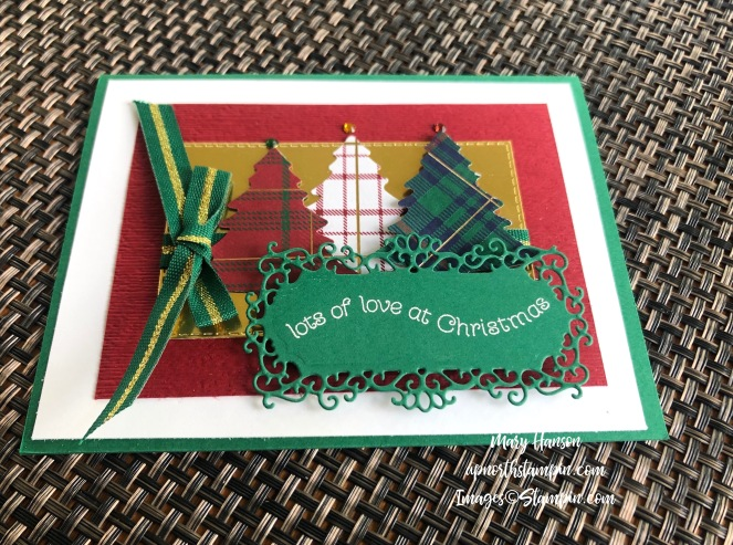 Ornate Frames Dies - 3 - Itty Bitty Christmas Dies - Wrapped in Plaid Bundle - Perfectly Plaid Designer Series - Mary Hanson - Up North Stampin'