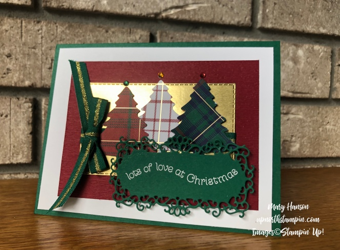Ornate Frames Dies - 4 - Itty Bitty Christmas Dies - Wrapped in Plaid Bundle - Perfectly Plaid Designer Series - Mary Hanson - Up North Stampin'
