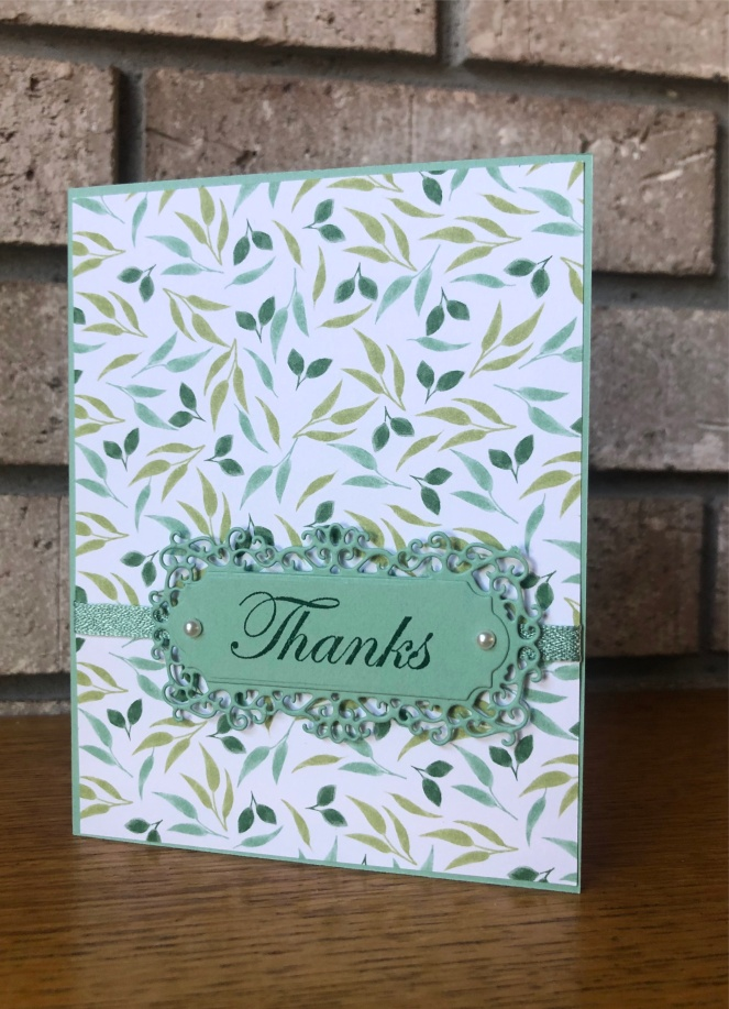 Ornate Frames Dies - Garden Lane Designer Series Paper - Magnolia Lane - Mary Hanson - Up North Stampin