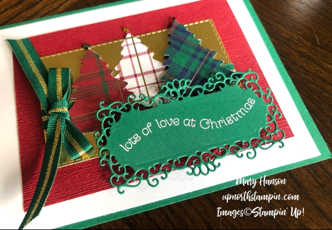 Ornate Frames Dies - Table - Wrapped in Plaid Suite Bundle - Subtle 3D Embossing Folder - Mary Hanson - Up North Stampin' - Stampin' Up!