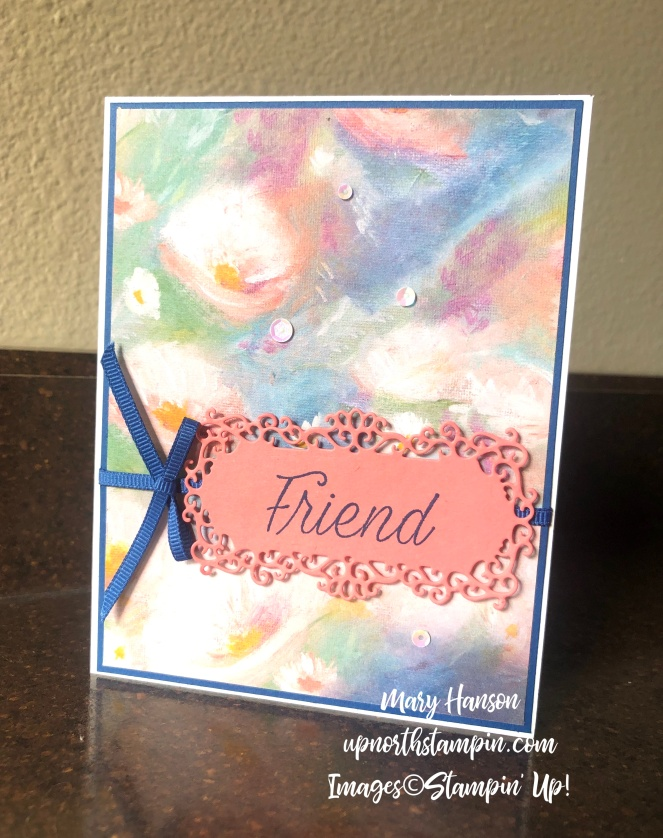 Perennial Essence Designer Series Paper - Ornate Frames Dies - Daisy Lane - Mary Hanson - Up North Stampin' - Stampin' Up!