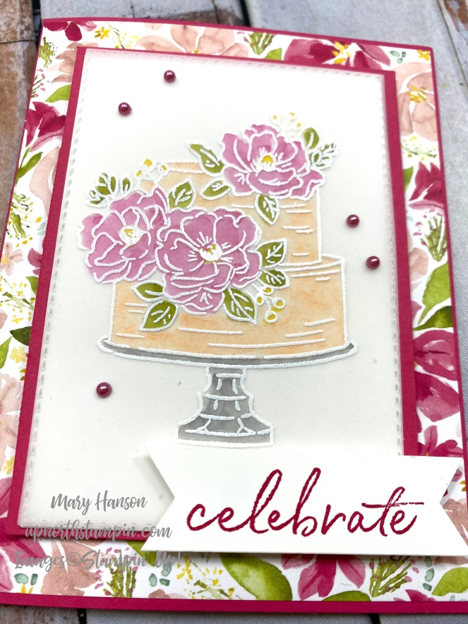 Happy Birthday to You - close - Best Dressed Designer Series Paper - Mary Hanson - Up North Stampin'