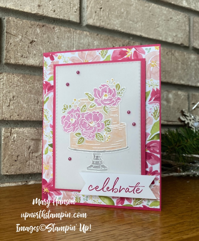 Happy Birthday to You - Mantel - Best Dressed Designer Series Paper - Mary Hanson - Up North Stampin'