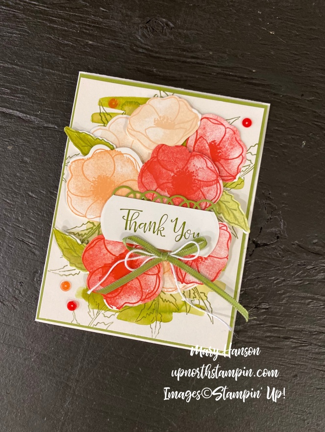 Peaceful Poppies Pals Blog Hop - Flat - Up North Stampin' - Mary Hanson