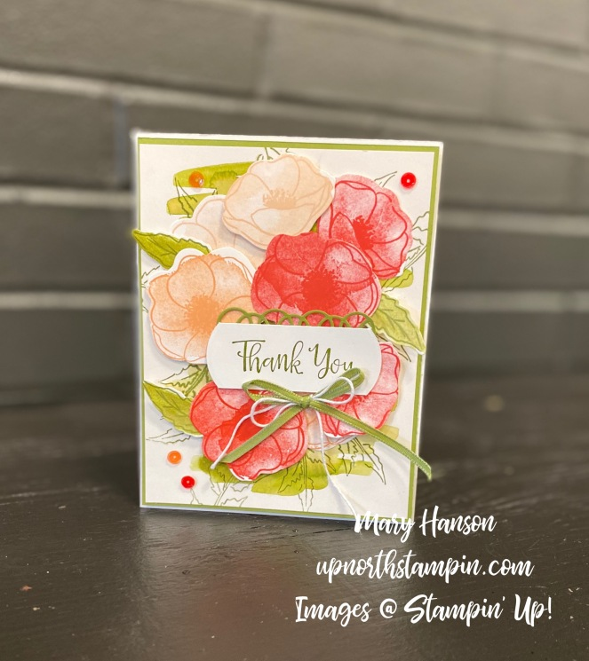 Peaceful Poppies Suite - Bouquet - Portrait Mode - Mary Hanson - Up north Stampin'