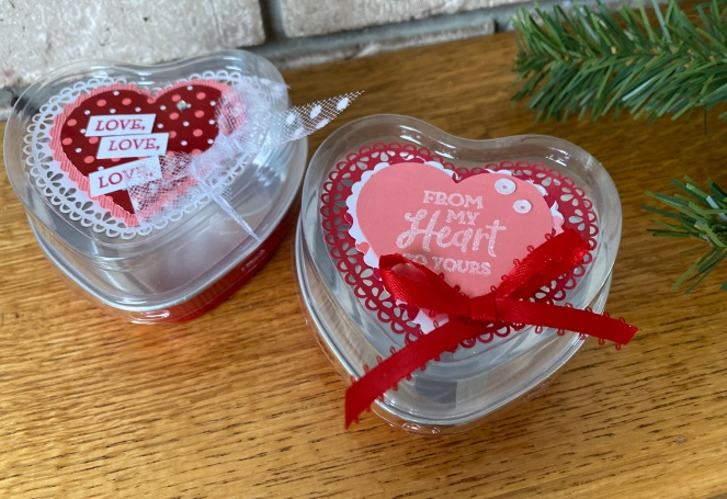 Heart Foil Tins - Close Up - From My Heart Suite Bundle - Mary Hanson - Up North Stampin'