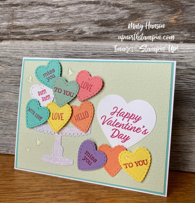Heartfelt Bundle - Meant to Be Bundle - Birthday Dies - Wood Background - Mary Hanson - Up North Stampin' - Stampin' Up!