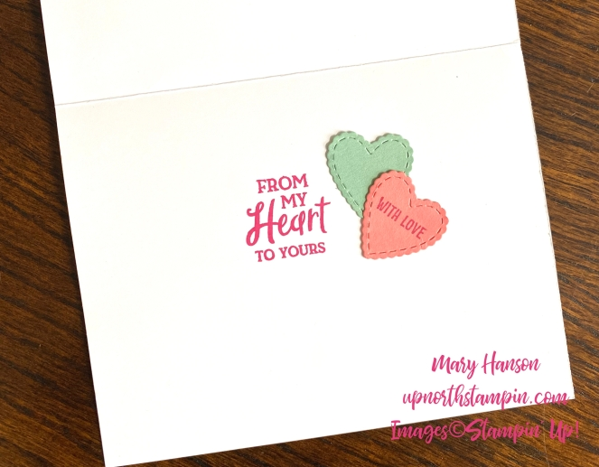 Heartfelt Bundle - Meant to Be Bundle - Inside - Mary Hanson - Up North Stampin'