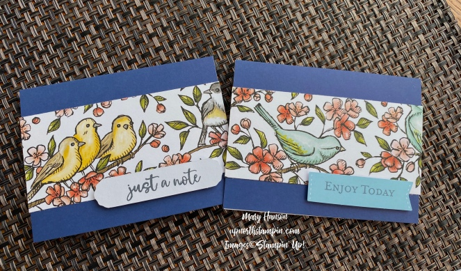 Bird Ballad Notecards - Mary Hanson - Up North Stampin'