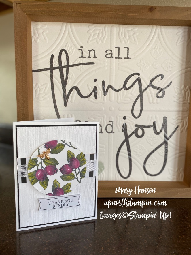 Botanical Prints Product medley - sign - Rich Razzleberry Stampin' Blends - Mary Hanson - Up North Stampin'