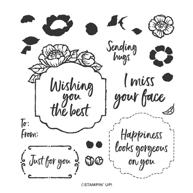 Tags in Bloom Stamp set