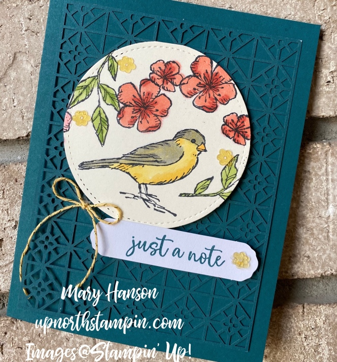 Botanical Prints Medley - Close - Bird Ballad Suite - Music From the Heart - Mary Hanson - Up North Stampin' copy