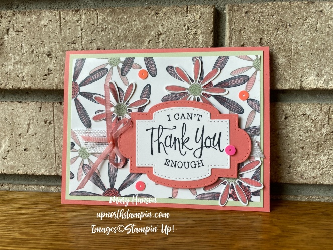 Medium Daisy Punch - Stitched So Sweetly Dies - Flirty Flamingo - Mary Hanson - Up North Stampin'
