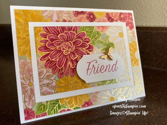 Ornate Garden Designer Series Paper - Stampin' Blends - Daisy Lane - Mary Hanson - Up North Stampin'