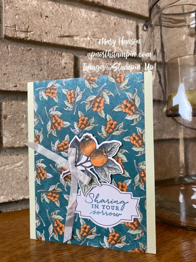 Botanical Prints Medley - Soft Seafoam - Pumpkin Pie - Mary Hanson - Up North Stampin'