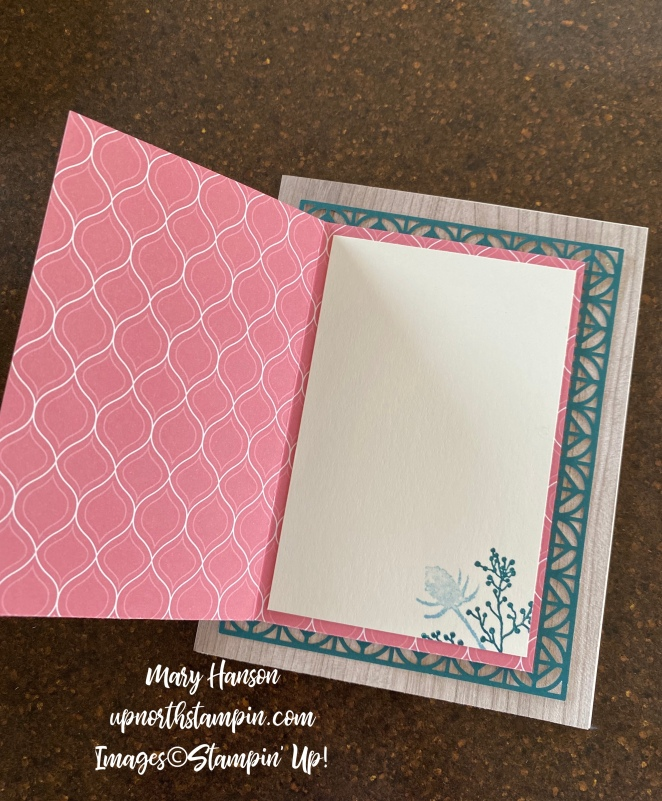 First Frost Bundle - Inside - Botanical Prints Medley - Pretty Peacock - Rococo Rose - Mary Hanson - Up North Stampin'