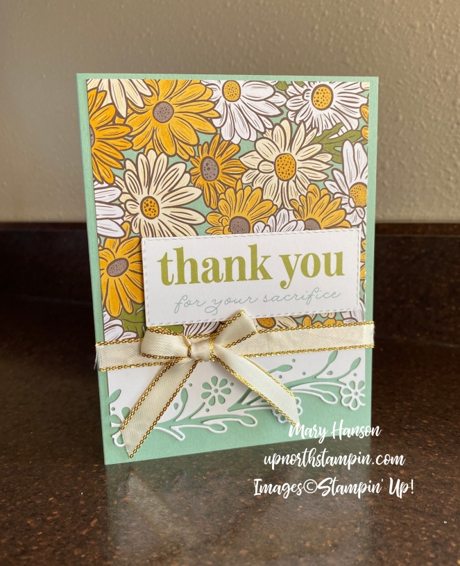 Ornate Gardens Designer Series Paper - Share Sunshine - Thank You - Mary Hanson - Up North Stampin'