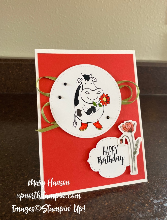 Over the Moon - -Peaceul Poppies - Wittycisms - Mary Hanson - Up North Stampin'